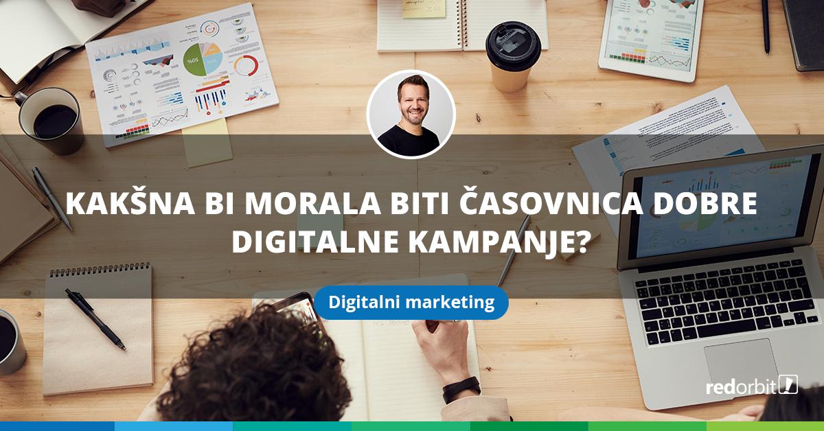 Kakšna bi morala biti časovnica dobre digitalne kampanje_blog Matjaž Ćosić