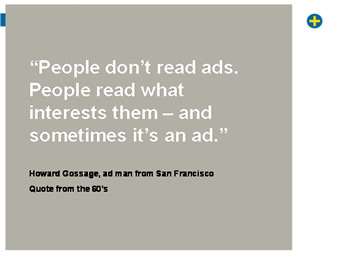 Slajd - people don't read ads