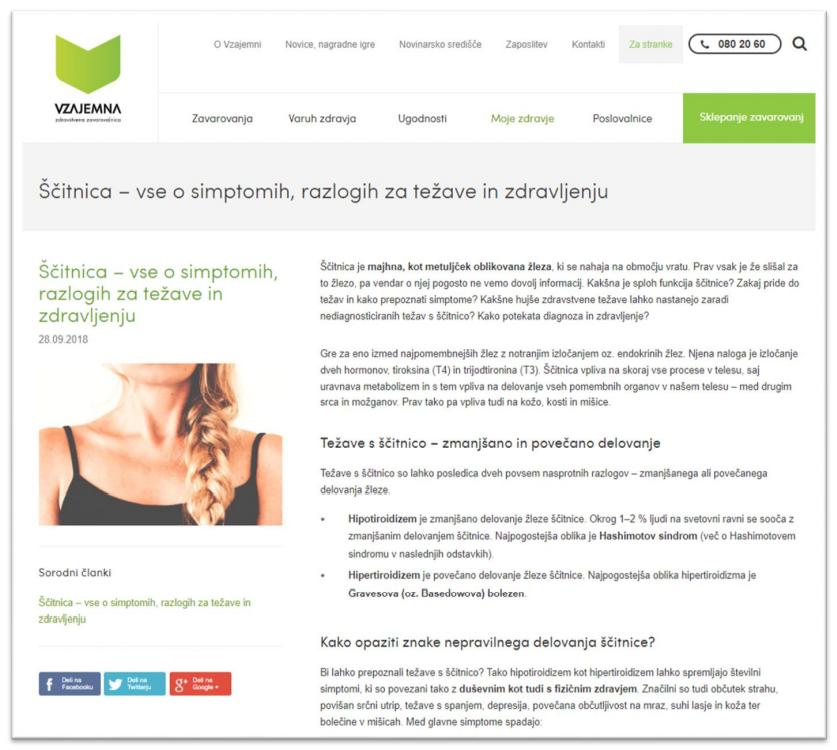 Vzajemna spletna stran ključna beseda ščitnica