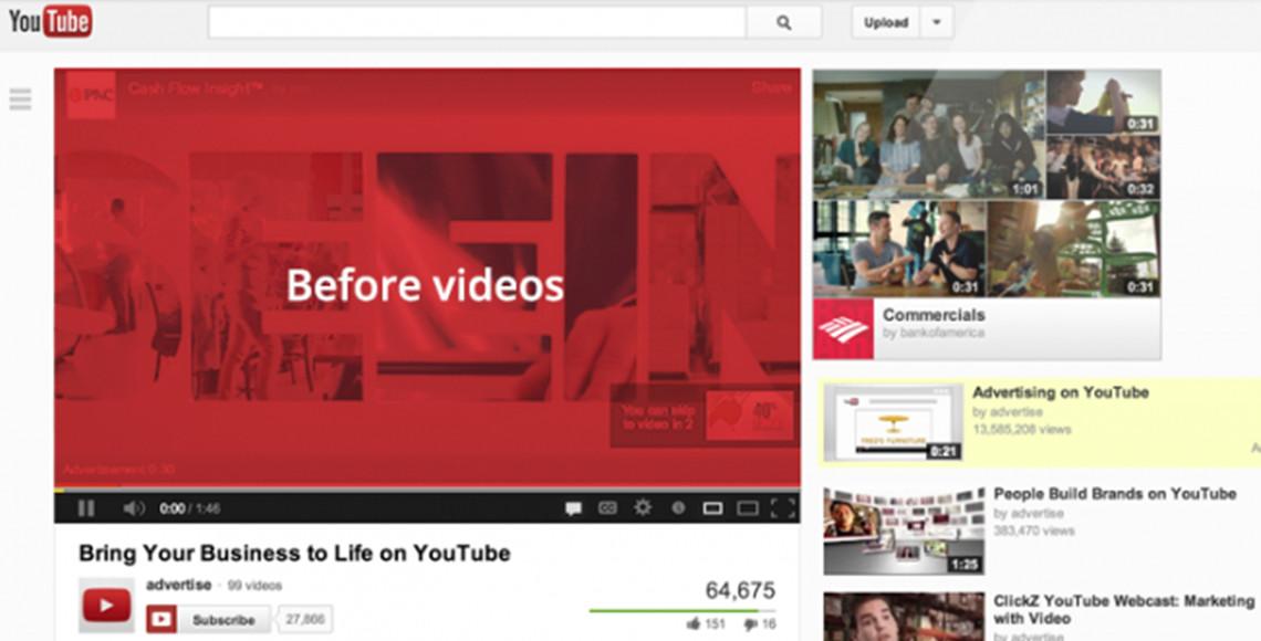 YouTube TrueView video oglaševanje