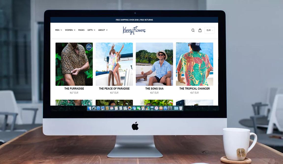 podjetje z oblačili s havajskim potiskom in maskami spletna stran